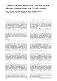 'Tumor-to-tumor metastasis' van een cecaal adenocarcinoom naar ...