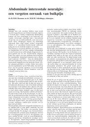 Abdominale intercostale neuralgie: een vergeten oorzaak van buikpijn