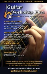 Rock Blues Jazz Acoustic Classical Songwriting - Guitar Workshop ...