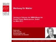 Werbung für Makler - MMM-Messe
