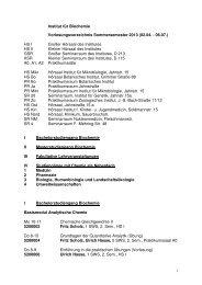 Institut für Biochemie Vorlesungsverzeichnis Sommersemester 2013 ...