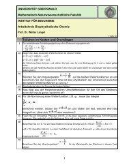 Teilchen im Kasten - Mathematisch-Naturwissenschaftliche Fakultät