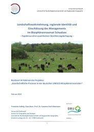 Bevölkerungsbefragung Biosphärenreservat Schaalsee