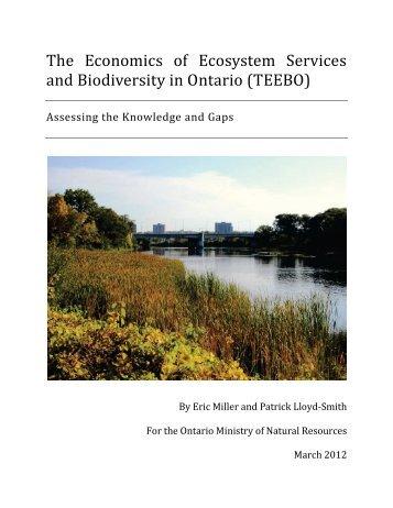 The Economics of Ecosystem Services and Biodiversity in Ontario