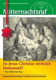 Ist Jesus Christus wirklich Immanuel? - Missionswerk Mitternachtsruf