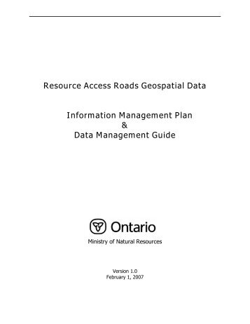 Resource Access Roads - Ministry of Natural Resources - Ontario.ca
