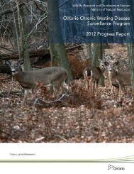 Ontario Chronic Wasting Disease Surveillance Program - Ministry of ...