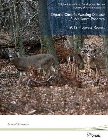 Ontario Chronic Wasting Disease Surveillance Program - Ministry of ...