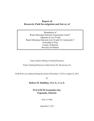 Report of Research, Field Investigation and Survey of Robert D ...