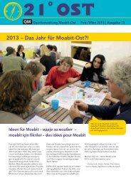 Zur Ausgabe 13/2013 - Quartiersmanagement Moabit Ost