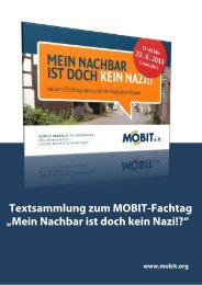 "Textsammlung zum MOBIT-Fachtag ""Mein Nachbar ist ... - MOBIT eV"