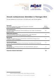 Chronik rechtsextremer Aktivitäten in Thüringen 2014 - Mobit.org