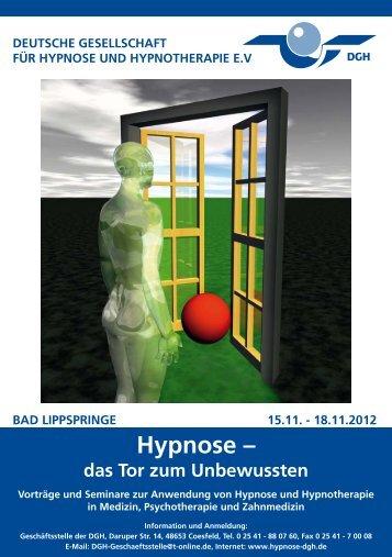 Hypnose – das Tor zum Unbewussten - Deutsche Gesellschaft für ...