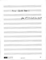 Rosner - Piano Quintet, No. 1, op. 35