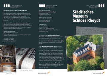 allgemeiner Flyer Schloss Rheydt - Stadt Mönchengladbach