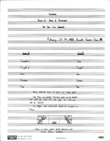 Rosner - Canzona sopra un tema di Monteverdi, op. 38