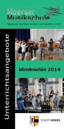 Jahresebroschüre 2014 ( PDF; 1.449 kB ) - Stadt Moers