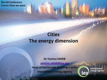 Dr. Yamina Saheb, Head of Sustainable Buildings Centre, IEA [PDF]