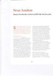 Neue Ansätze - Molekulare Prävention - Christian-Albrechts ...