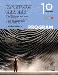 program - Mondavi Center