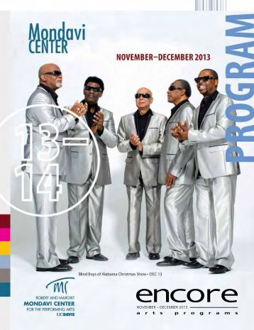 NOVEMBER – DECEMBER 2013 - Mondavi Center