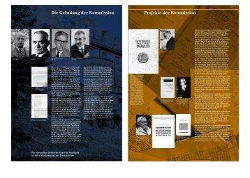 Die Gründung der Kommission - Kommission für die Geschichte der ...