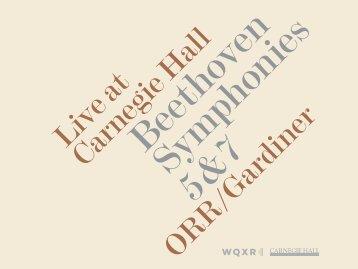 Live at Carnegie Hall ORR/Gardiner