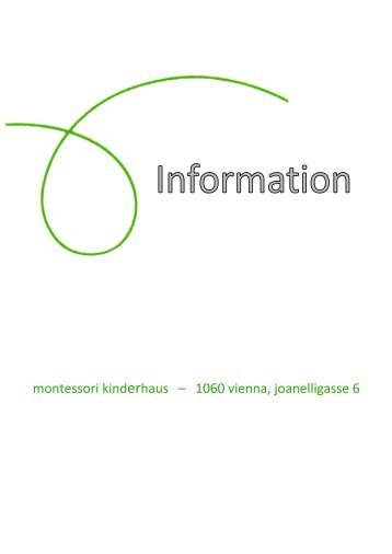 Infofolder (Printversion) - Montessori Kinderhaus Wien