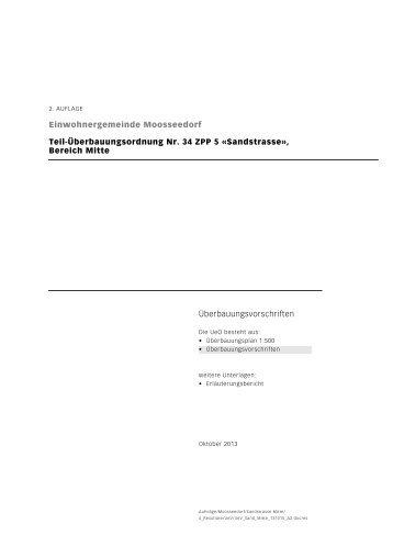 Ãœberbauungsvorschriften - Einwohnergemeinde Moosseedorf