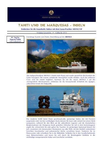 TAHITI UND DIE MARQUESAS TAHITI UND DIE ... - Asian Adventure