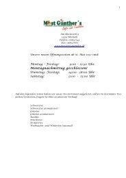 Unsere aktuelle Tee-Liste (Stand Juni 2013)