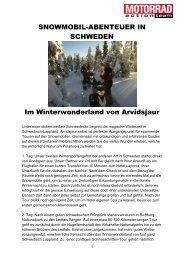 SNOWMOBIL-ABENTEUER IN SCHWEDEN Im ... - Motorrad online