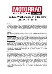PDF: Ausschreibung Enduro-Wochenende ... - Motorrad online