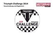 Ausschreibung Triumph-Challenge 2014 - Motorrad online