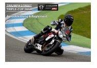 Triumph Street Triple-Cup 2014 Ausschreibung ... - Motorrad online