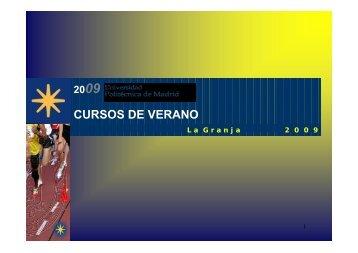 CURSOS DE VERANO - Motricidad Humana