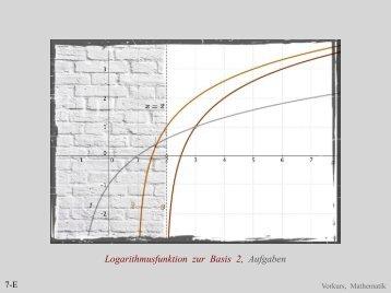 Logarithmusfunktion zur Basis 2, Aufgaben