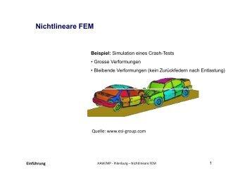 Nichtlineare FEM Beispiel