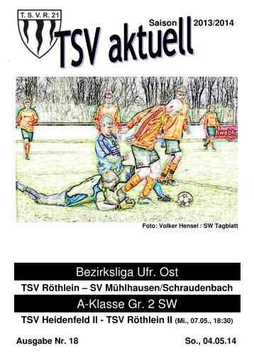 TSV aktuell Nr. 18 2013/14