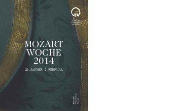 Programm der Mozartwoche 2014 - Stiftung Mozarteum Salzburg
