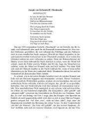 Joseph von Eichendorff: Mondnacht Das um 1835 entstandene ...