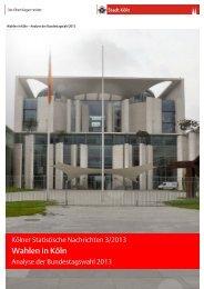 Kölner Statistische Nachrichten 3/2013 - Wahlen in Köln ... - MPIfG