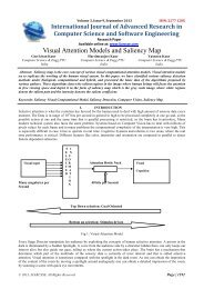 Visual Attention Models and Saliency Map - IJARCSSE