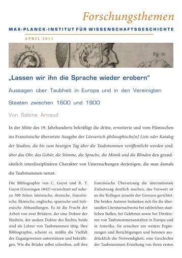 Druckfassung - Max Planck Institute for the History of Science