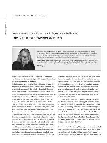 Die Natur ist unwiderstehlich - Max Planck Institute for the History of ...