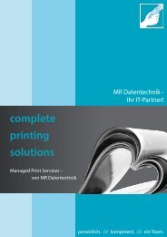 complete printing solutions - MR Datentechnik