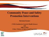 Community Peace and Safety Promotion Interventions
