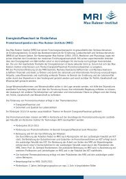 Infoblatt MRI Stipendium - Max Rubner-Institut - Bund.de