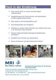 Fisch und Ernährung - Max Rubner-Institut - Bund.de