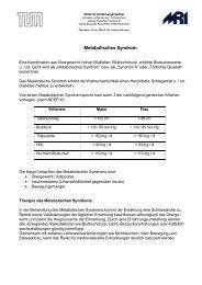 Metabolisches Syndrom - Klinikum rechts der Isar